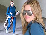 Picture Shows: Khloe Kardashian  April 23, 2015\n \n Reality star Khloe Kardashian goes to the gym for a morning workout in Beverly Hills, California. Khloe looked stylis hand sporty in blue Nike leggings and a matching sweater.\n \n Non Exclusive\n UK RIGHTS ONLY\n \n Pictures by : FameFlynet UK © 2015\n Tel : +44 (0)20 3551 5049\n Email : info@fameflynet.uk.com