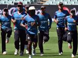 Bangladesh's team, seen during a training session ahead of a Cricket World Cup pool match, in Adelaide, on March 8, 2015