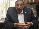 Lester Tenney talks about the more than three years he spent in a Japanese prisoner of war camp Monday, April 20, 2015 in Carlsbad, Calif. Tenney endured thr...