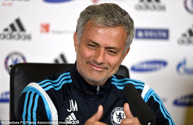 Chelsea manager Jose Mourinho looks in fine form during a press conference on Friday