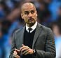 File Photo: Bayern Munich manager Pep Guardiola has been charged by Uefa after wearing a T-shirt demanding justice for a reporter who died at the 2014 World Cup Manager Pep Guardiola, Bayern Munich.  ... Soccer - UEFA Champions League - Quarter Final - First Leg - Porto v Bayern Munich - Dragao ... 15-04-2015 ... Porto ... Portugal ... Photo credit should read: Adam Davy/EMPICS Sport. Unique Reference No. 22757667 ...