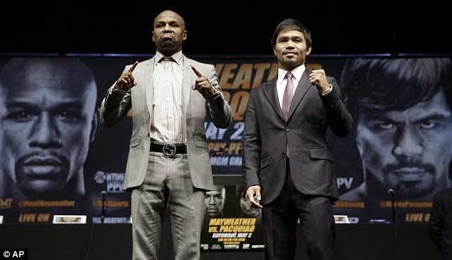 Mayweather faces Manny Pacquiao at the MGM in Las Vegas in the biggest fight in boxing history