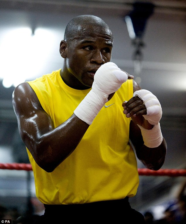 With his undefeated record on the line, Mayweather appears to be taking this fight more seriously than others