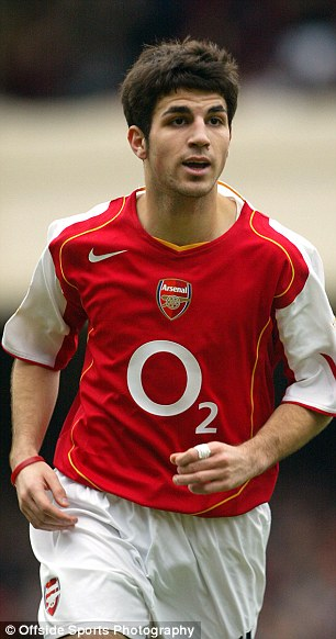 Fabregas joined Arsenal as a 16-year-old