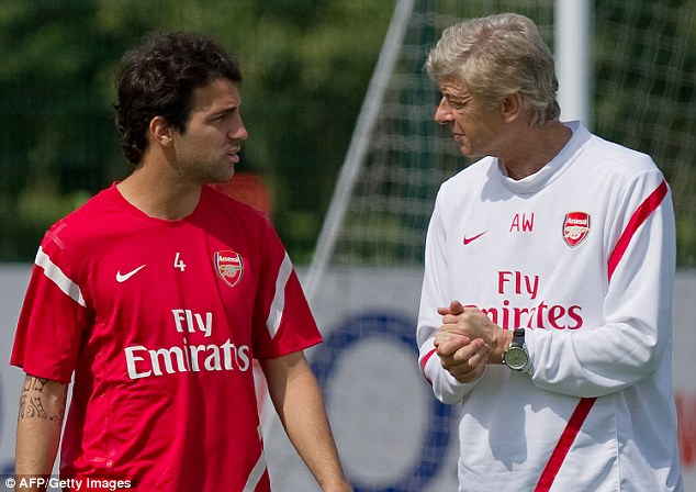 The midfielder's relationship with mentor Wenger became strained after he left Arsenal in 2011