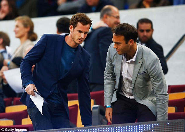 Murray watched Lionel Messi and co defeat their European counterparts with best man Ross Hutchins