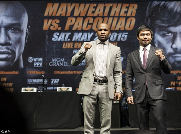 The American takes on Manny Pacquiao in Las Vegas on May 2 in the most anticipated fight in years