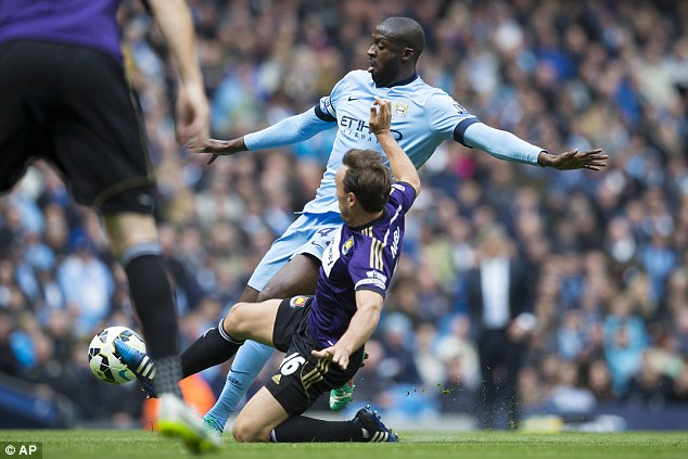 Toure has struggled to impose himself upon games for City in the manner seen in previous seasons