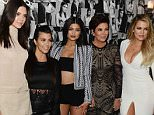 LOS ANGELES, CA - APRIL 23:  (L-R) Model Kendall Jenner and tv personalities Kourtney Kardashian, Kylie Jenner, Kris Jenner and Khloe Kardashian attend Opening Ceremony and Calvin Klein Jeans' celebration launch of the #mycalvins Denim Series with special guest Kendall Jenner at Chateau Marmont on April 23, 2015 in Los Angeles, California.  (Photo by Chris Weeks/Getty Images for Calvin Klein) *** Local Caption *** Kendall Jenner;Kourtney Kardashian;Kris Jenner;Khloe Kardashian;Kylie Jenner