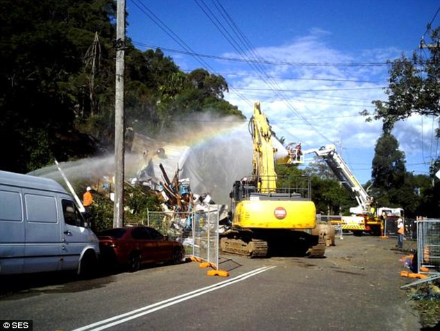 Locals celebrated the demolishing, clapping and cheering as their own properties were spared from the ticking time bomb