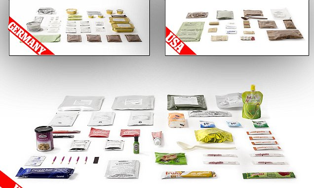 Combat rations of 20 armies around the world revealed