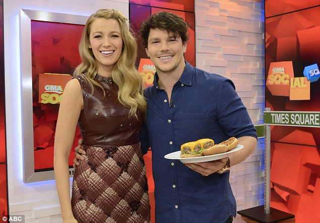 Burger for Blake: Dan Churchill whips up a 'Bro Burger' on Good Morning America, meeting Blake Lively too