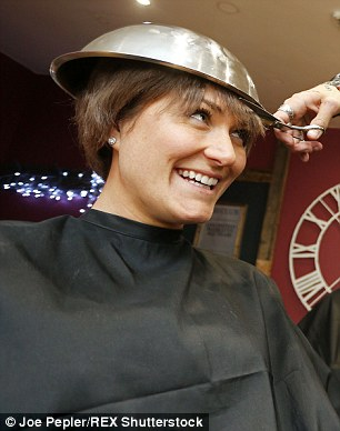 Members of the public take the plunge and opt for a bowl haircut