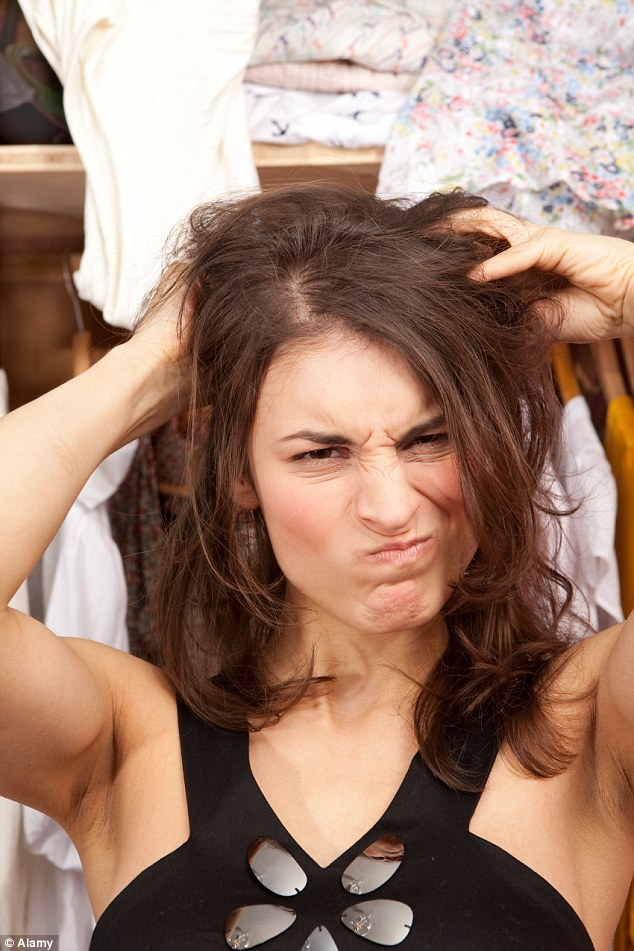 Bad hair day: Using too much of the product can lead to dandruff, interfere with styling, and blocked pores that cause pimples and cysts