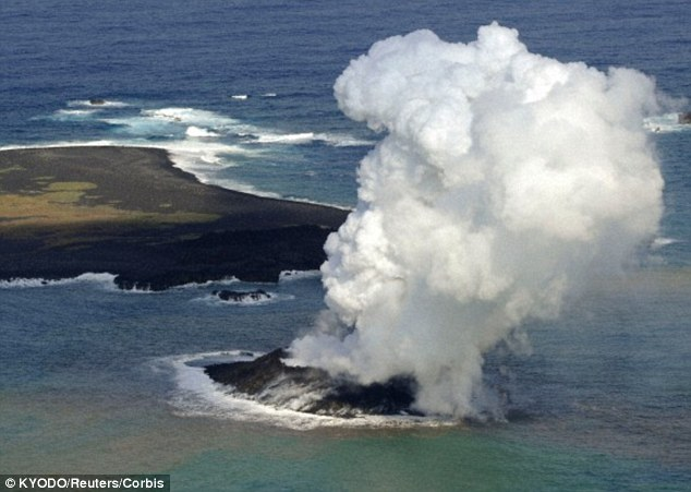 Eruptions from underwater volcanoes can sometimes form new islands like this one off the coast of Japan.A recent study found that emissions from underwater volcanoes may play a far greater role in influencing the climate than had previously been believed