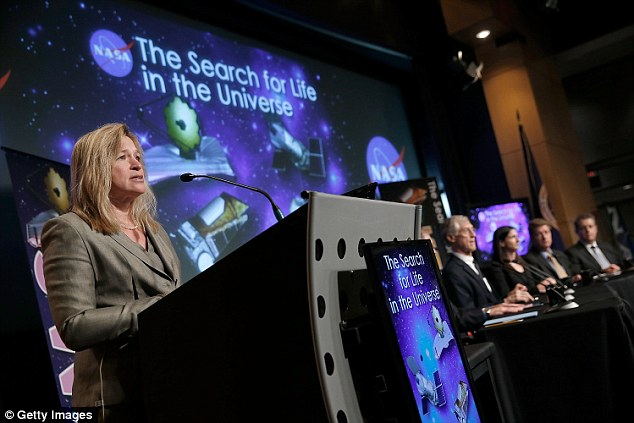 During a talk last month, Nasa said humanity will encounter extra-terrestrials within a decade. 'I believe we are going to have strong indications of life beyond Earth in the next decade and definitive evidence in the next 10 to 20 years,' said Ellen Stofan, chief scientist for Nasa, (pictured) at a Washington panel discussion