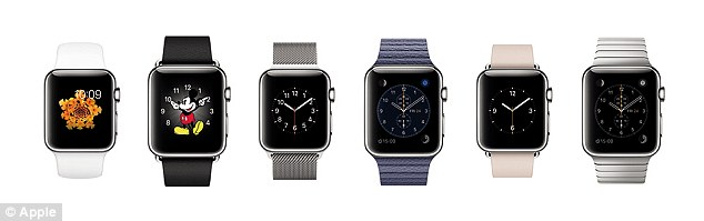 There are a huge range of bands available for the Watch - with Apple hoping many owners will buy more than one, and they can easily be swapped.