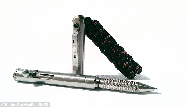 Hidden weapon: This might look like a ball-point pen but it can also be used to start fires and catch dinner