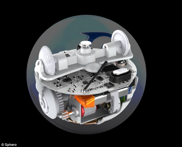 It's currently a mystery as to how BB-8 moves, but its white and orange case may hide a larger mechanism like that found in Sphero, which allows it to move quickly in any direction. The real question is how its head stays on