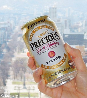 A new collagen-laced brew, created by Japanese liquor company Suntory, boasts a five per cent alcohol content level and claims to have two grams of collagen per can
