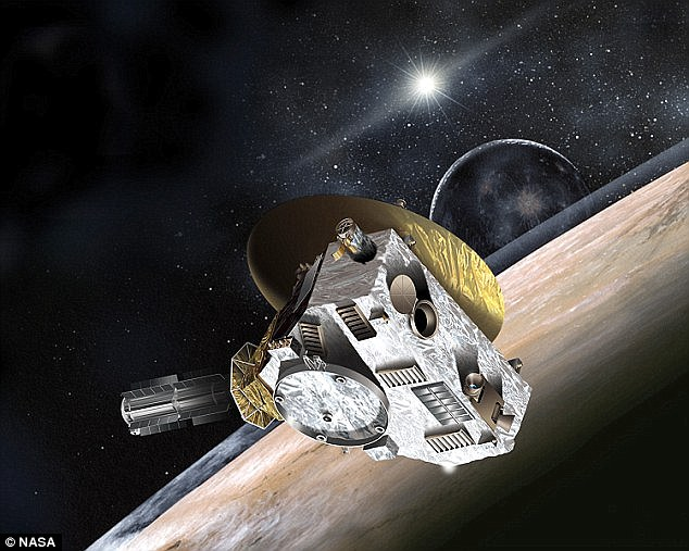 New Horizons (artist's illustration shown) was launched on 19 January 2006 at a speed of 36,373 mph (58,536 km/h) - the fastest spacecraft ever to leave Earth orbit, 100 times faster than a jetliner.Owing to the speed of New Horizons, the observations of Pluto will last just two hours