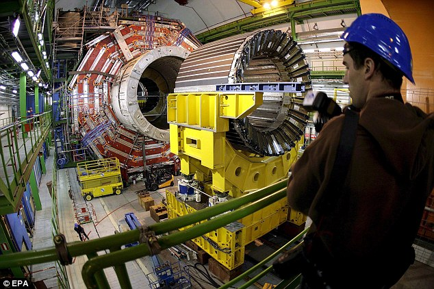 Ambition: Scientists hope the machine will be able to detect and describe dark matter for the first time