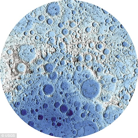 Pictured on the left is the moon's south pole, and on the right, the north pole.To create the maps, more than 6.5 billion measurements were collected between 2009 and 2013 by the Lunar Reconnaissance Orbiter Wide Angle Camera (Wac) and the Lunar Reconnaissance Orbiter