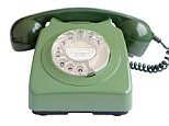 C04G99 Old green round dial telephone