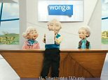 Fictional: Wonga sent legal letters to tens of thousands of its borrowers - but the solicitors were as real as the Wonga puppets.
