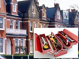 The exterior of Edwardian terraced houses in Tooting, London ADDN74  slambo