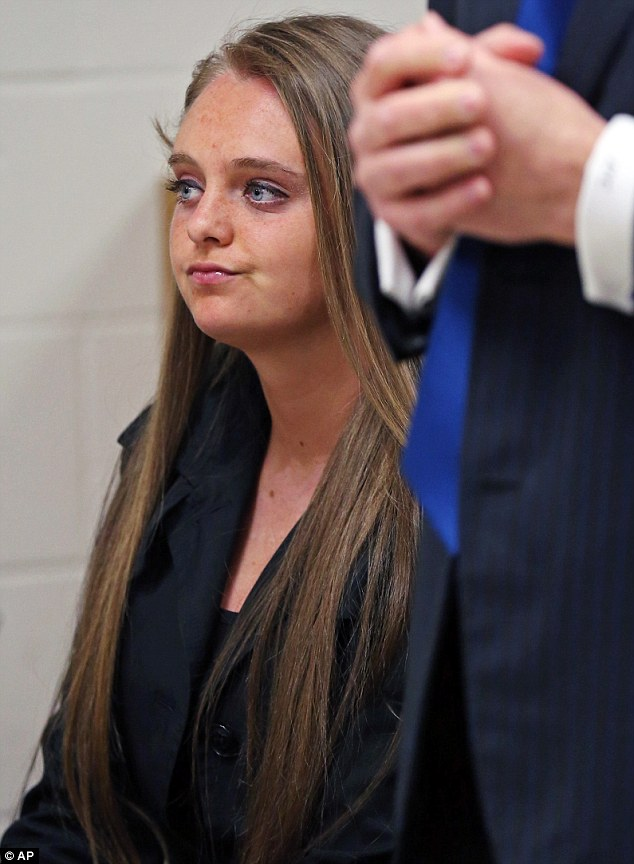 'Bewildered': Michelle Carter, 18, seen here in court in New Bedford, Massachusetts, on Thursday, is said to be confused at being charged with involuntary manslaughter over the suicide of her friend, Conrad Roy II, 18, according to her lawyers, who claim she was attempting to help Roy