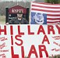 one of the protester which Hillary Clinton's motorcade went by to get in to NHTI.