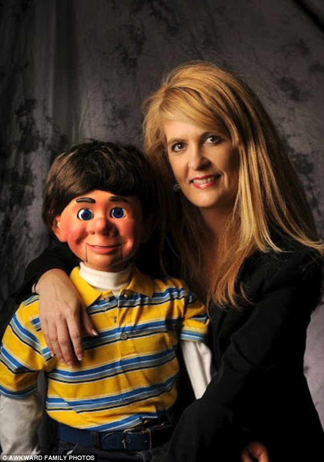 What a dummy: This woman opts for a ventriloquist doll instead of a date