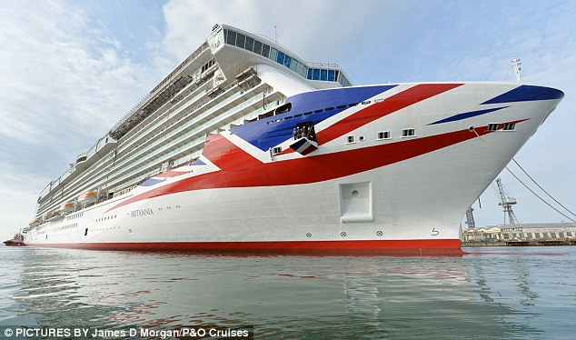 The 3,600-passenger, Union Jack-adorned Britannia is the largest ship built for the UK market