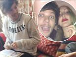 23.APRIL.2015  **EXCLUSIVE PICTURES** ONE DIRECTION STAR LOUIS TOMLINSON IS SEEN IN THE COMPANY OF FRIENDS HAVING A LAUGH AS THE SINGER SEEMS TO BE ROLLING UP AN ILLEGAL SUBSTANCE. BYLINE MUST READ : XPOSUREPHOTOS.COM ***UK CLIENTS - PICTURES CONTAINING CHILDREN PLEASE PIXELATE FACE PRIOR TO PUBLICATION *** UK CLIENTS MUST CALL PRIOR TO TV OR ONLINE USAGE PLEASE TELEPHONE 0208 344 2007**