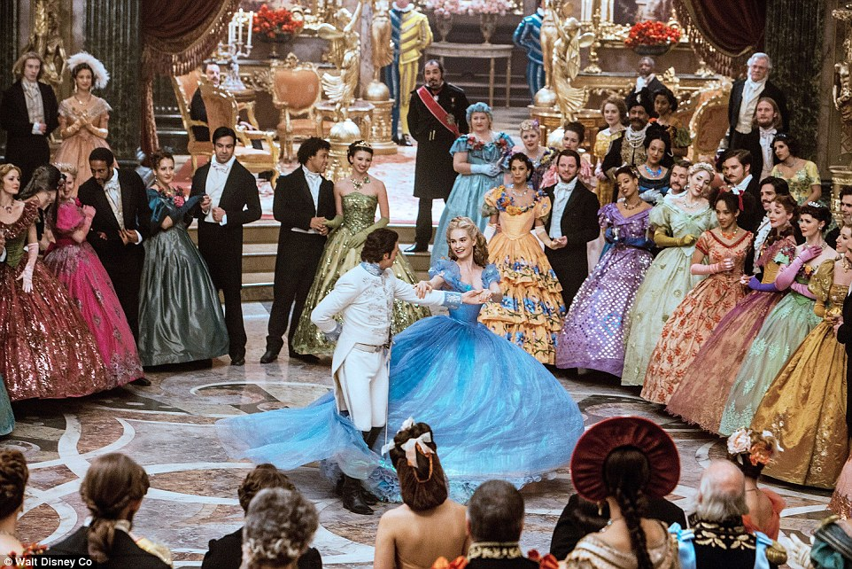 Disney's dazzling retelling of Cinderella, about an ordinary girl who wins the heart of a prince (pictured: Lily James and Richard Madden)
