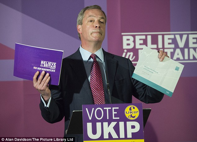Nigel Farage claims he will have personally met more than half his electorate by polling day