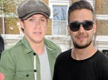 Liam Payne & Niall Horan are seen at studio's in west london where they are recording.\n24 April 2015.\nPlease byline: Vantagenews.co.uk