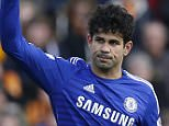 """Diego Costa celebrates scoring the second goal for Chelsea during  Barclays Premier League between Hull City and Chelsea at The Kingston Communications Stadium in Hull, England on 22 March 2015.   Reuters / Andrew Yates  Livepic  EDITORIAL USE ONLY. No use with unauthorized audio, video, data, fixture lists, club/league logos or """"live"""" services. Online in-match use limited to 45 images, no video emulation. No use in betting, games or single club/league/player publications.  Please contact your account representative for further details."""