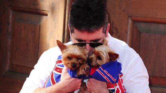 Pet lover: The British judge is a pet owner to his beloved dogs Squiddly and Diddly