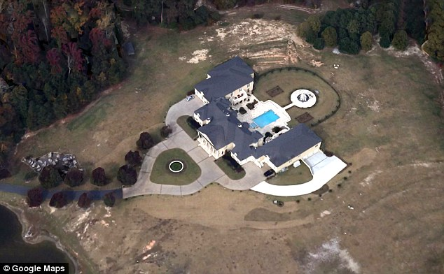 Wealthy: Dollar and his family primarily live in this multi-million dollar in Fayettville, Georgia, south of Atlanta