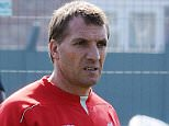 LIVERPOOL, ENGLAND - APRIL 23:  (THE SUN OUT, THE SUN ON SUNDAY OUT)  Brendan Rodgers Manager of Liverpool in action during a training session at Melwood Training Ground on April 23, 2015 in Liverpool, England.  (Photo by John Powell/Liverpool FC via Getty Images)