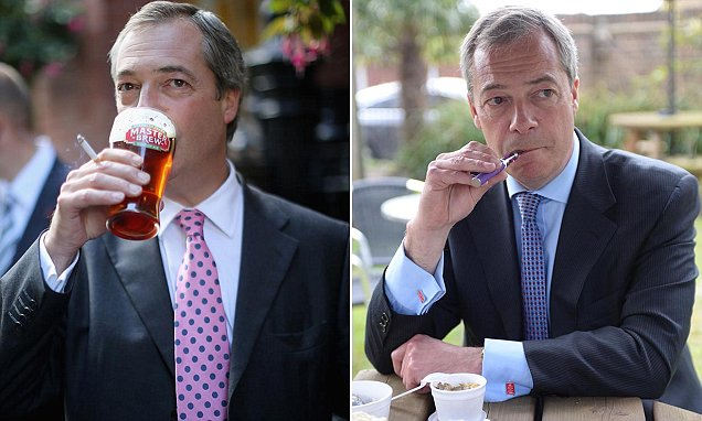Nigel Farage reveals suffering chronic back pain and considers quitting smoking