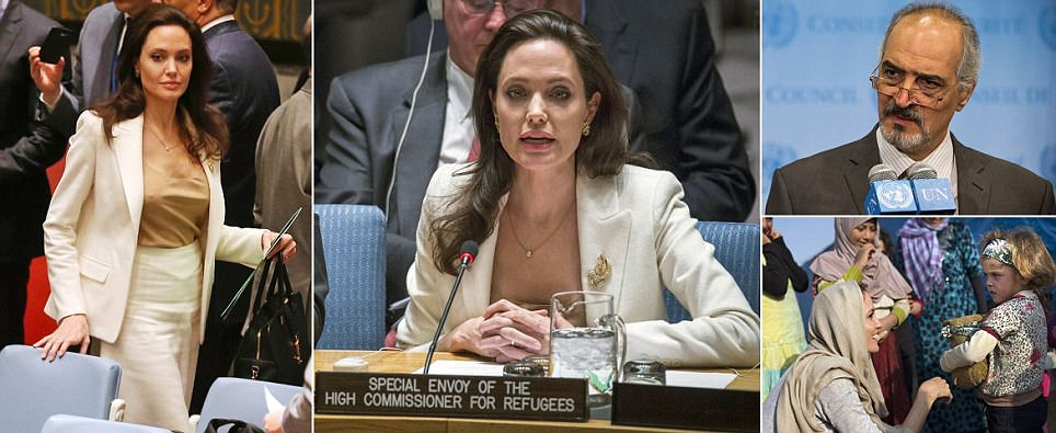 Angelina Jolie attacks UN paralysis over Syria's refugee crisis in New York