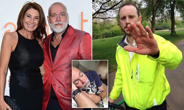 Kate Middleton's uncle Gary Goldsmith hunts the cyclist who ran over his dog