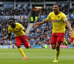 Brighton 0-2 Watford: Troy Deeney and Matej Vydra fire Hornets one step closer to Premier