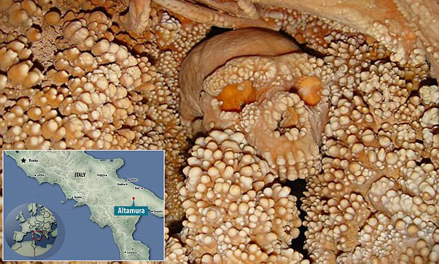 Altamura Man who fell down sinkhole starved to death and FUSED to its walls