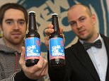BrewDog's Managing Director James Watt (left) and Director Martin Dickie with a 41% volume ale called Sink the Bismarck!, which is claimed to be the world's strongest beer.   A controversial brewery today claimed to have snatched the world's strongest beer title from its German rivals - with a 41% volume ale. Scottish firm BrewDog said its new creation, named Sink the Bismarck!, 'takes beer to a whole new level'.   PRESS ASSOCIATION Photo. Issue date: Tuesday February 16, 2010.  See PA story CONSUMER Beer. Photo credit should read: Duncan Brown Photography/PA Wire  Undated handout photo