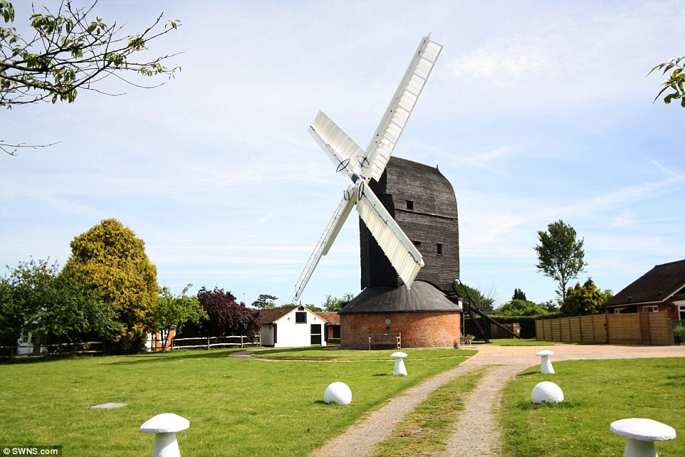 For sale: Britain's oldest working post windmill has gone on the market for £900,000, complete with a three-bedroom house for anyone hoping to make some real dough