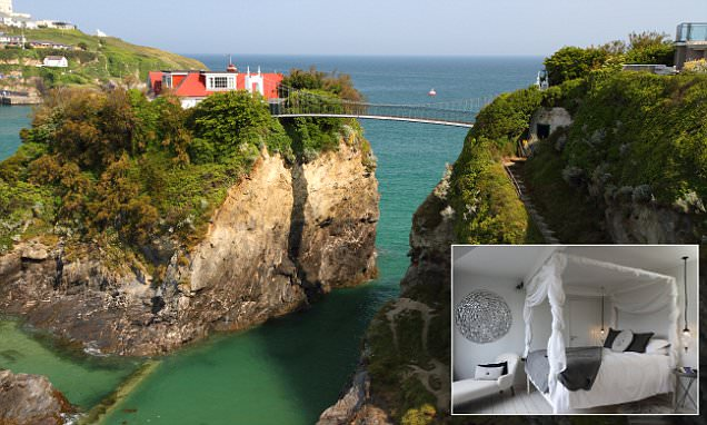 Cornwall's The House In The Sea can only be reached by 90ft-high suspension bridge